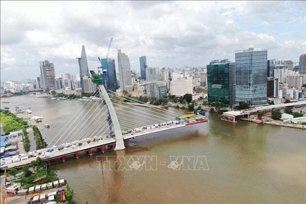 胡志明市首添二号桥将于2021年9月合龙 hinh anh 1