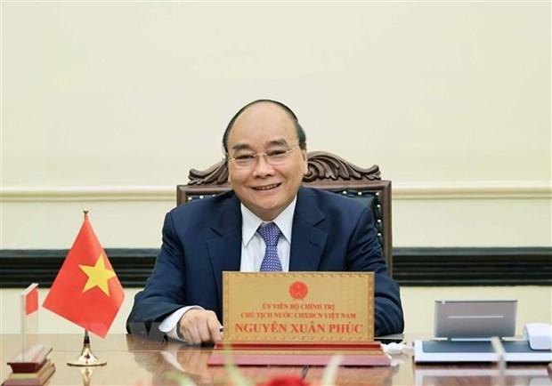 越南国家主席阮春福与印尼总统佐科·维多多通电话 hinh anh 1