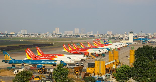越南航空局:停止或尽量减少多条往返南部的客运航线 hinh anh 1
