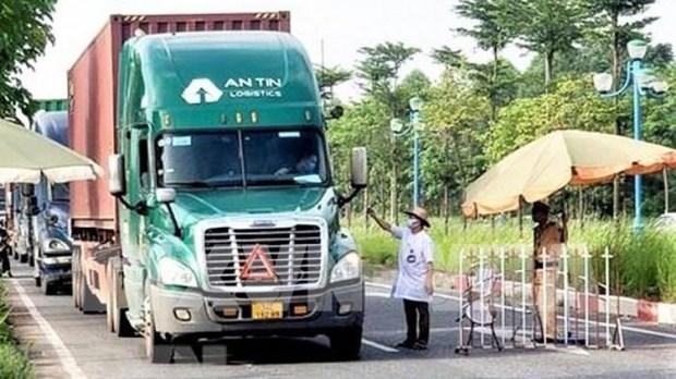 越南南部19个省内货物运输驾驶员无需提供新冠病毒检测阴性证明 hinh anh 1