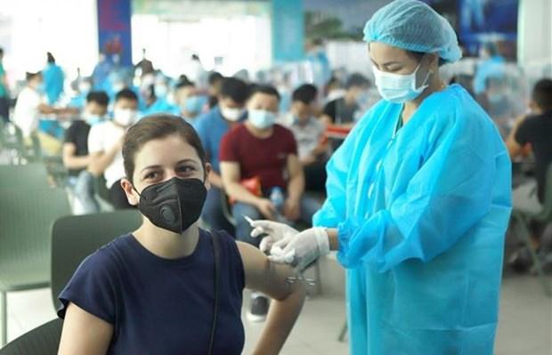 河内市为新冠疫苗接种活动做足准备 hinh anh 1