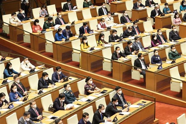 越南第十五届国会第一次会议讨论诸多重要内容 hinh anh 1