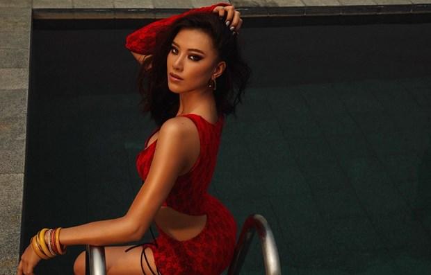 越南佳丽阮黄金缘将代表越南参加2021年环球小姐大赛 hinh anh 2