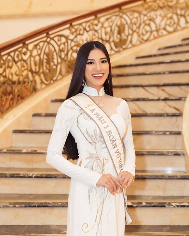 越南佳丽阮黄金缘将代表越南参加2021年环球小姐大赛 hinh anh 3