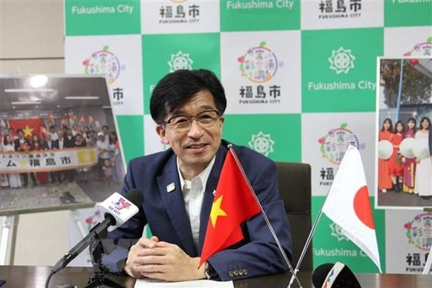 2020年东京奥运会:福岛市为越南奥运代表团加油助威 hinh anh 2