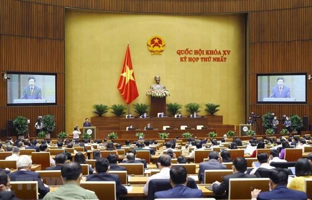 越南第十五届国会第一次会议新闻公报(第三号) hinh anh 1