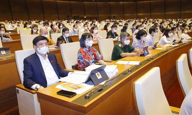 越南第十五届国会第一次会议:将有效防控新冠肺炎疫情视为首要优先目标 hinh anh 1