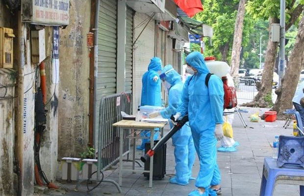 河内市新增7个聚集性病例的17例 hinh anh 1