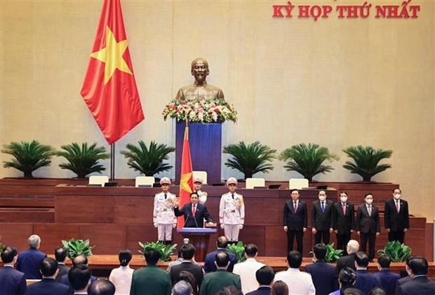越南第十五届国会第一次会议:政府总理范明政:主动破除体制机制障碍 hinh anh 2