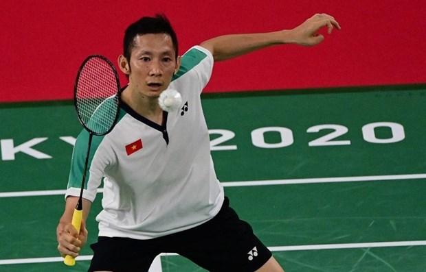 2020年奥运会羽毛球比赛:越南选手阮进明结束本届奥运会征程 hinh anh 1