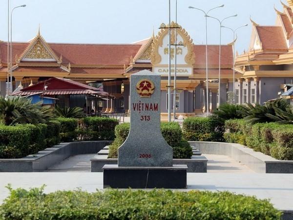 越南与柬埔寨就陆地边界工作展开讨论 hinh anh 1