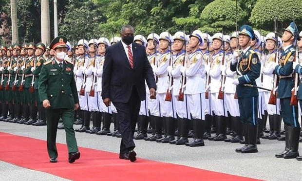 美国国防部部长奥斯汀对越南进行正式访问 hinh anh 1