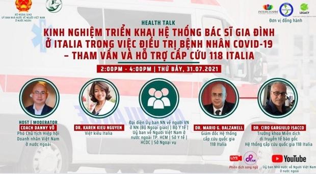 """意大利专家代表团启动""""侨胞携手渡过疫情难关""""的系列在线座谈会 hinh anh 1"""