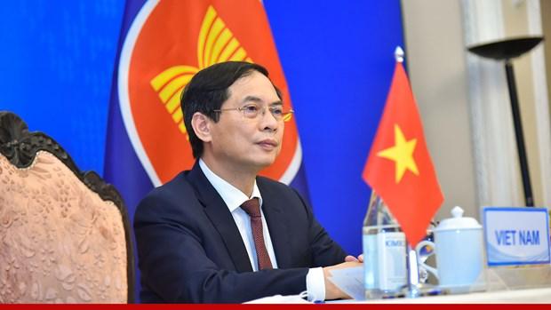 东盟与中国外交部长视频会议:优先配合有效控制新冠肺炎疫情 相互支持可持续复苏 hinh anh 2
