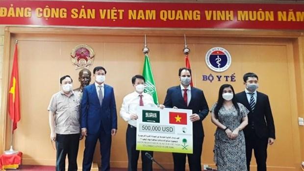 新冠肺炎疫情:沙特阿拉伯向越南捐赠防疫医疗物资 hinh anh 1
