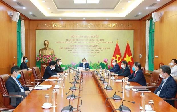 越南共产党与智利共产党举行在线研讨会 hinh anh 1