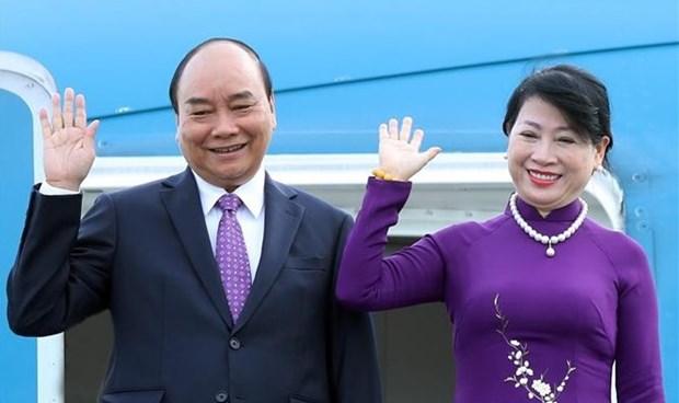 越南国家主席阮春福启程对老挝进行正式友好访问 hinh anh 1