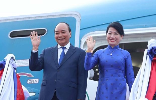 越南国家主席阮春福圆满结束对老挝进行的正式友好访问 hinh anh 1