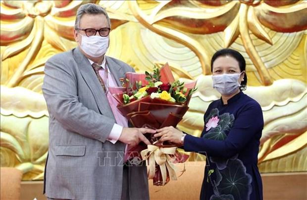 """越南向芬兰驻越大使授予""""致力于各民族和平友谊""""纪念章 hinh anh 1"""