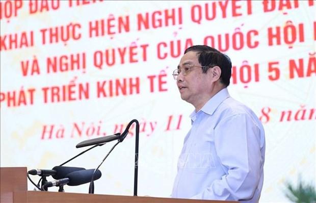 第十五届政府召开第一次会议 贯彻落实党和国会有关未来5年经济社会发展的决议 hinh anh 1