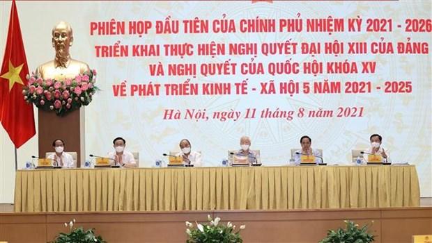 第十五届政府召开第一次会议 贯彻落实党和国会有关未来5年经济社会发展的决议 hinh anh 2