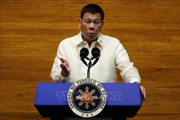 菲律宾总统杜特尔特向越南领导人致贺信 祝贺两国建交45周年 hinh anh 1