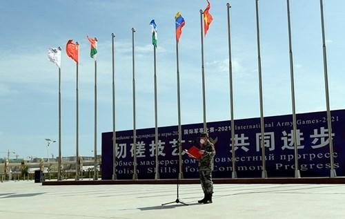 越南人民军化学参赛队欢迎仪式在中国举行 hinh anh 2