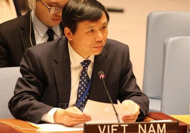越南与联合国安理会:越南驻联合国大使肯定新技术在维和领域中的作用 hinh anh 1
