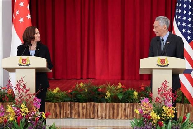 新加坡与美国在多个领域启动新的合作 hinh anh 1
