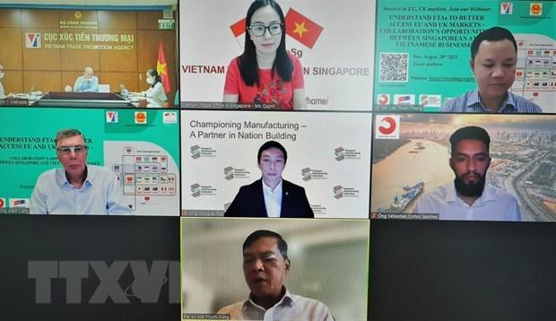 促进越南和新加坡企业合作 进军欧盟和英国市场 hinh anh 1