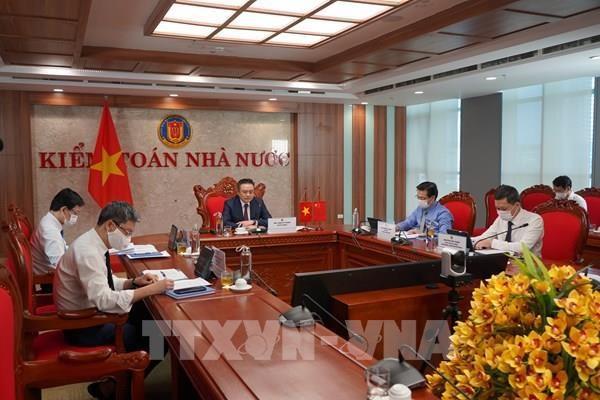 越南审计署与中国审计署举行线上高层会谈 hinh anh 1