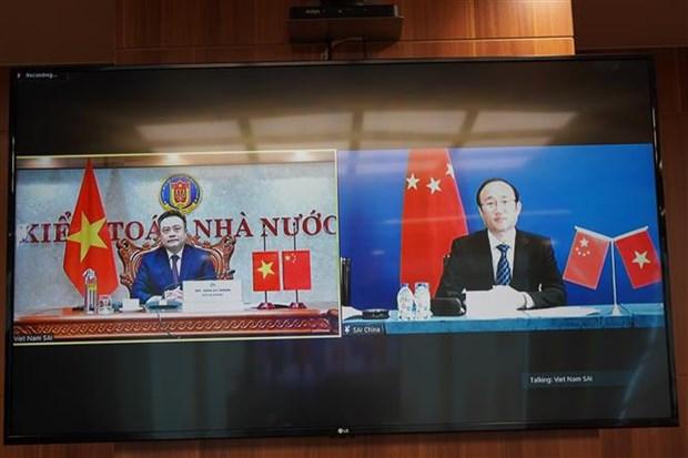 越南审计署与中国审计署举行线上高层会谈 hinh anh 2