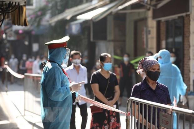 截至9月1日中午河内市新增20例新冠肺炎确诊病例 累计确诊病例3318例 hinh anh 1