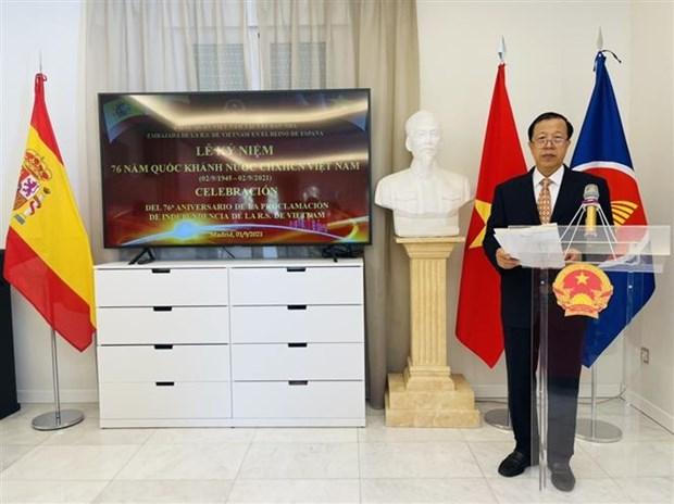 越南驻外使领馆和使团举行国庆76周年庆祝活动 hinh anh 3