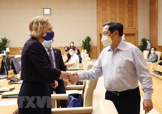 越南政府总理范明政:美国企业为促进越美全面伙伴关系发展做出贡献 hinh anh 2