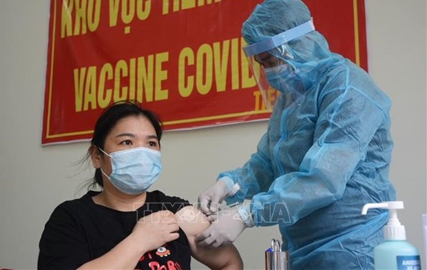 岘港市力争在今年9月基本完成新冠疫苗第一剂次接种任务 hinh anh 1