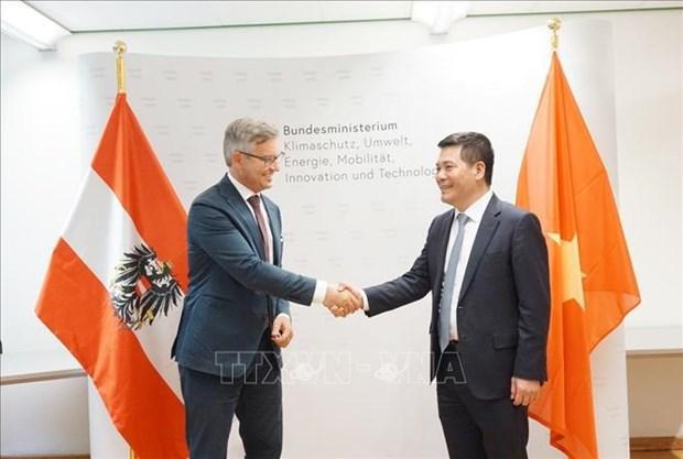 越南与奥地利拟开展可再生能源和可持续发展合作 hinh anh 1