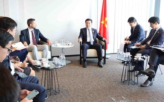 越南工贸部长和比利时企业商讨合作生产新冠疫苗事宜 hinh anh 1
