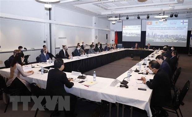 越南国会主席王廷惠出席越南与芬兰企业座谈会 hinh anh 2