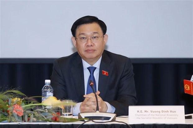 越南国会主席王廷惠出席越南与芬兰企业座谈会 hinh anh 1