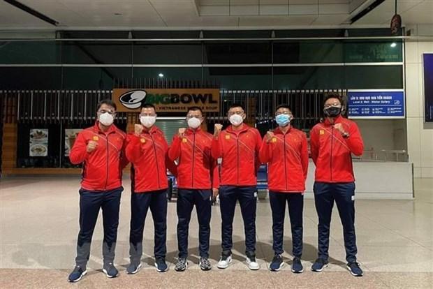 越南男子网球队启程前往约旦参加Davis Cup世界男子网球团体锦标赛 hinh anh 1