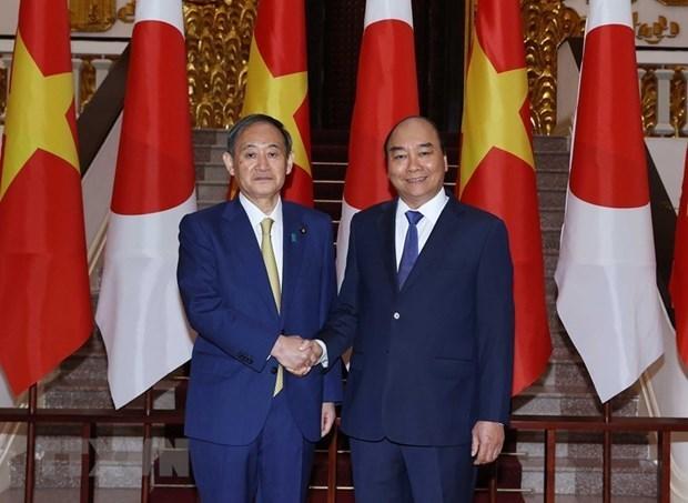 越南国家主席阮春福与日本首相菅义伟将于9月15日下午举行会谈 hinh anh 1