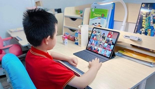 """BIDV为""""给学生的网络和电脑""""项目捐出250亿越盾 hinh anh 1"""