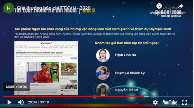 2020年度越通社新闻奖:彰显专业性、凝聚力和责任感 hinh anh 2
