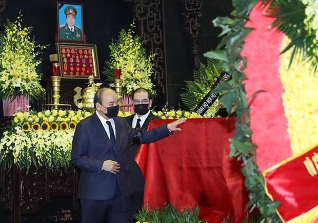 原国防部长冯光青大将遗体告别仪式在河内举行 hinh anh 2