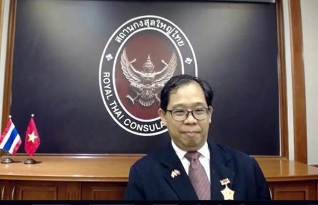 """泰国驻胡志明市总领事荣获""""致力于各民族和平友谊"""" 纪念章 hinh anh 1"""