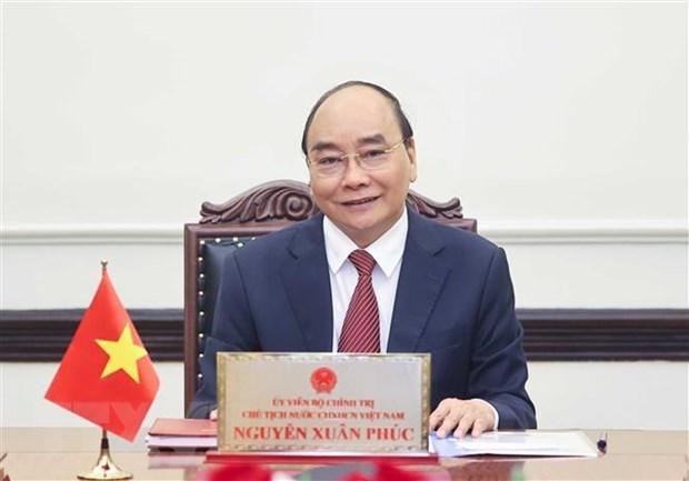 越南国家主席阮春福向少年儿童致以中秋节的祝贺 hinh anh 1