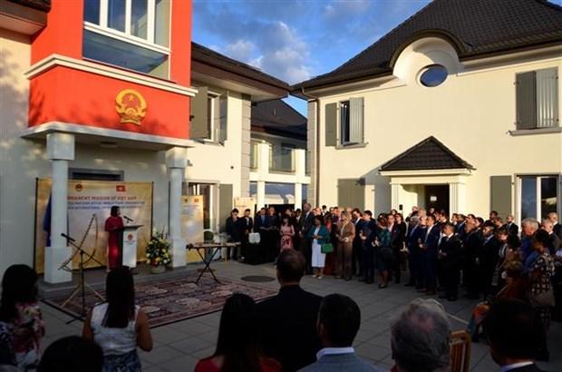 国际朋友在日内瓦出席越南社会主义共和国建国76周年招待会 hinh anh 2