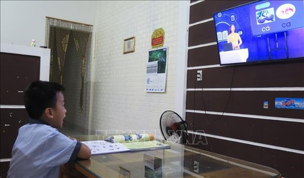 2021-2022学年:24个省市开展在线和电视教学模式 hinh anh 2