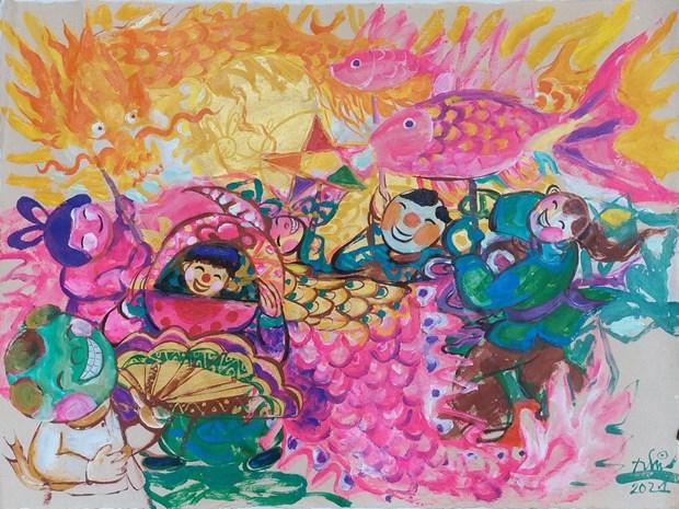 欢度中秋节画展以线上形式举行 hinh anh 2